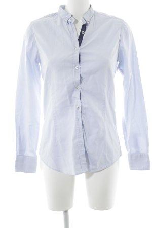 Aglini Camicia a maniche lunghe azzurro Elementi plastici