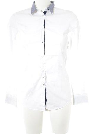 Aglini Long Sleeve Shirt white-slate-gray business style