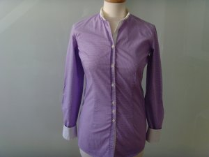 Aglini Long Sleeve Blouse mauve-white cotton