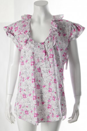 Aglini Rüschen-Bluse Blumenmuster Romantik-Look