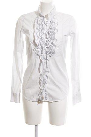 Aglini Ruffled Blouse white business style