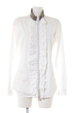 Aglini Rüschen-Bluse mehrfarbig extravaganter Stil
