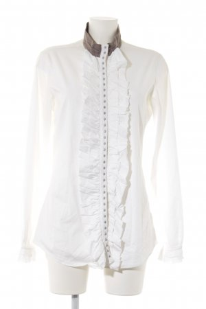 Aglini Ruche blouse veelkleurig extravagante stijl