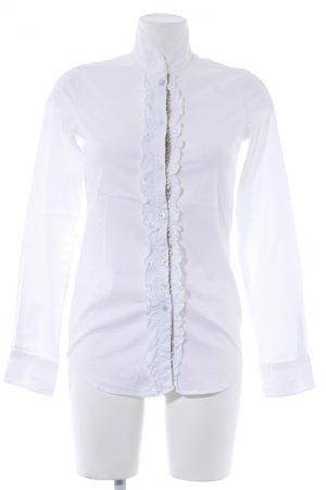 Aglini Rüschen-Bluse weiß klassischer Stil