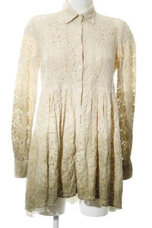 Aglini Lace Dress natural white-khaki color gradient casual look