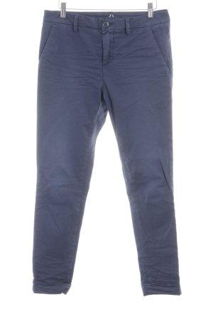 Aglini Pantalone jersey blu acciaio stile casual