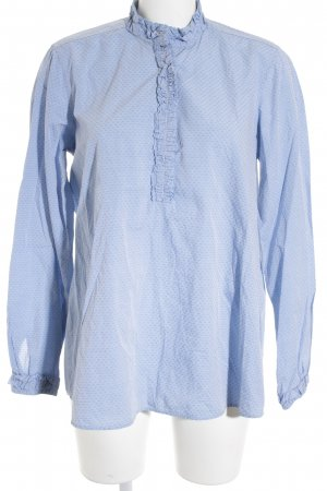 Aglini Tunic Blouse azure-cornflower blue spot pattern casual look