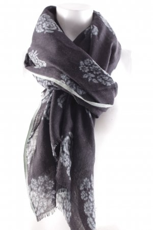 Ahmaddy Wollschal taupe-blassblau florales Muster klassischer Stil