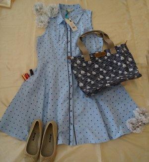 Ahoi! tolles Kleid von Yumi mit Anker im Maritimen Look in Größe 42