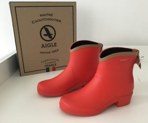 Aigle Bottines beige-rouge