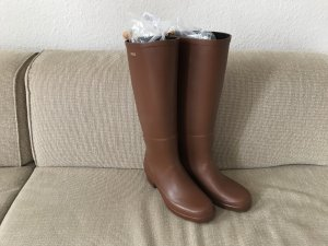 Aigle High Boots brown-cognac-coloured
