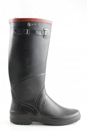 Aigle Wellies black casual look