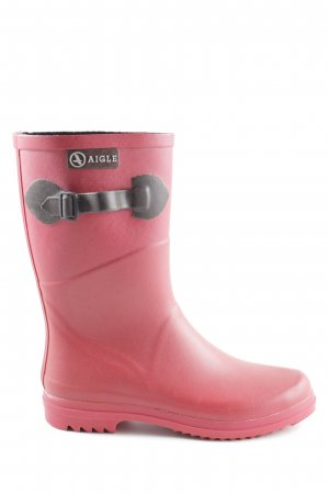 Aigle Wellies red casual look