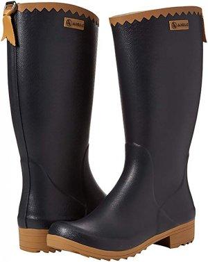 Aigle Wellington laarzen zwart-bruin