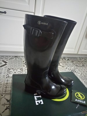 Aigle Wellington laarzen zwart