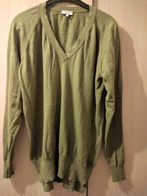 Aigle Jersey largo gris verdoso-caqui lana merina