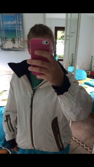 Aigle Outdoor Jacke Creme weiß