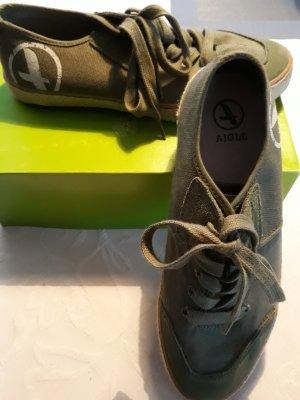 Aigle Sneaker stringata verde prato Fibra tessile