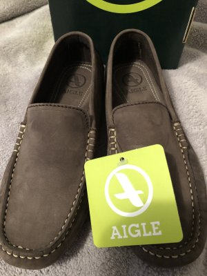 Aigle Slip-on marron clair cuir