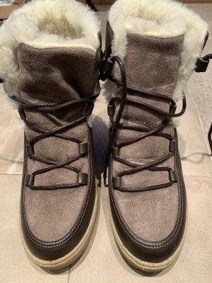 Aigle Snow Boots grey brown-dark brown