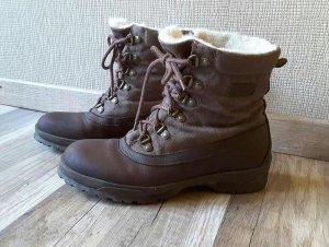 Aigle Winterschuhe Boots Schneeschuhe gefüttert warm braun Wanderschuhe