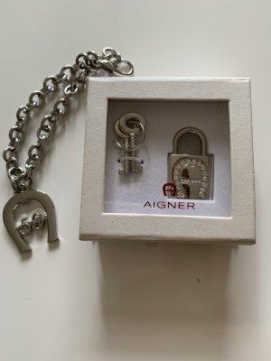 Aigner Porte-clés argenté