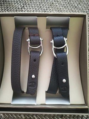 Etienne Aigner Armband zwart-donkerbruin