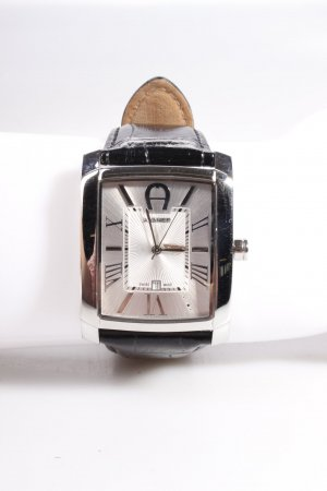 Aigner Armbanduhr Salerno Silver Black Leather