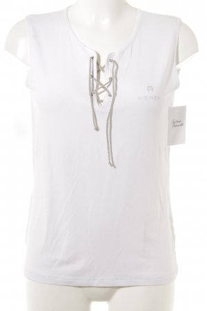Aigner Basic Top weiß Casual-Look