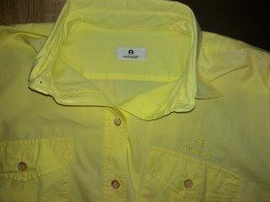 Aigner Camicetta a maniche lunghe giallo-giallo chiaro Cotone