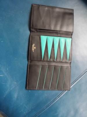 Aigner Wallet black-turquoise leather