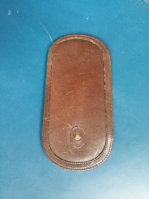 Aigner Glasses dark brown leather