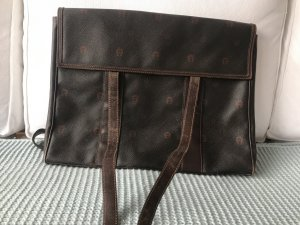 Aigner Crossbody bag black-black brown leather
