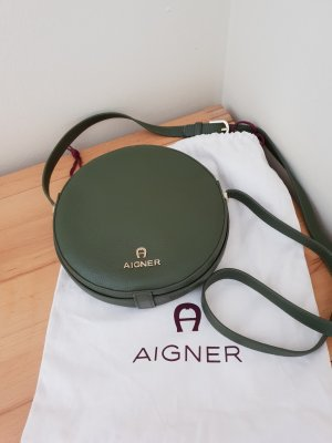 Aigner Circle Bag Small Khaki Leder Neu ohne Etikett
