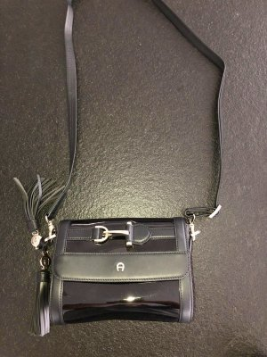 Aigner Clutch black leather
