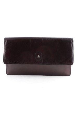 Aigner Borsa clutch marrone scuro stile classico