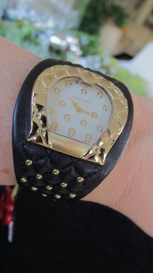 Aigner Damen Armbanduhr dunkelbraun/gold NEU m. Etikett NP 599,-€ !