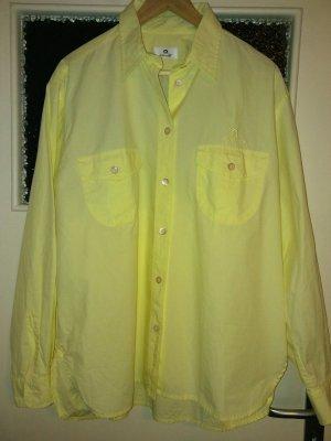 Aigner Blusa de manga larga amarillo-amarillo pálido Algodón