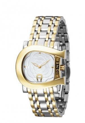 Aigner Analog Watch gold-colored-silver-colored stainless steel