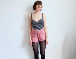 aigner designer highwaist jeans shorts rosa pastell S festival