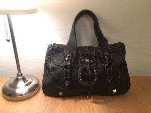 Aigner Edle  Handtasche Leder dunkel braun