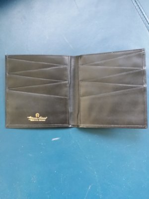 Aigner Wallet black leather