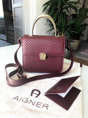 Aigner Handbag purple leather