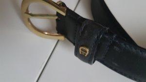 Aigner Cintura di pelle marrone scuro
