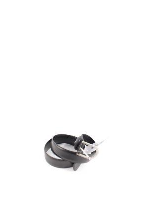 Aigner Gürtel schwarz Logo-Applikation aus Metall