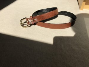 Aigner Leather Belt cognac-coloured-gold-colored
