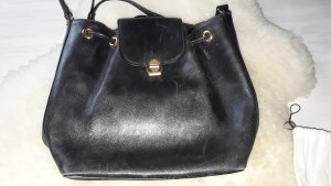 Aigner Pouch Bag black leather