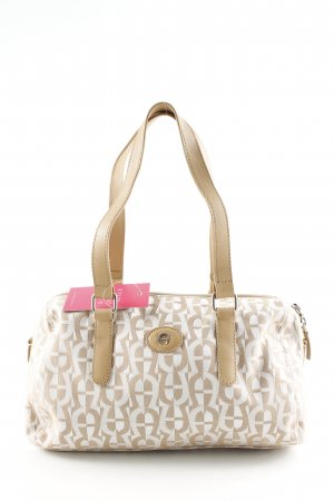 Aigner Handbag white-natural white allover print casual look