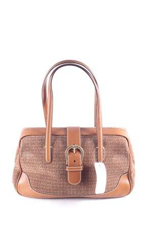 Aigner Handtasche beige-cognac Monogram-Muster klassischer Stil
