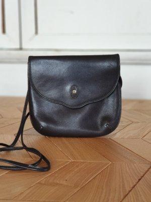 Aigner Bolso marrón oscuro-color oro Cuero